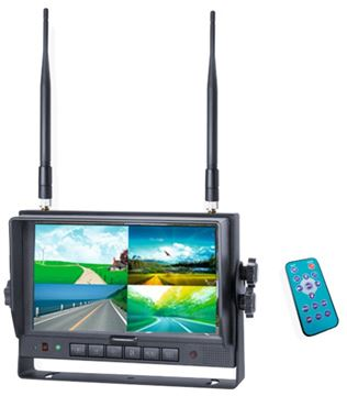 Image de Moniteur 7'' QUAD sans fils Digital 2,4 GHz